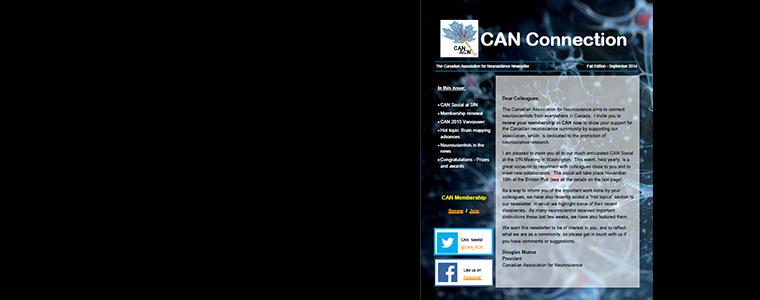 Fall 2014 Canadian Neuroscience newsletter