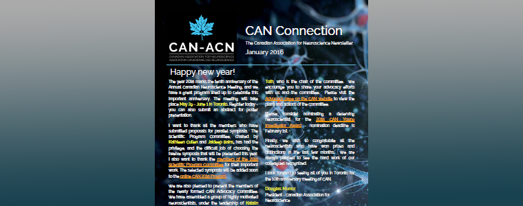 CAN connection newsletter January 2016