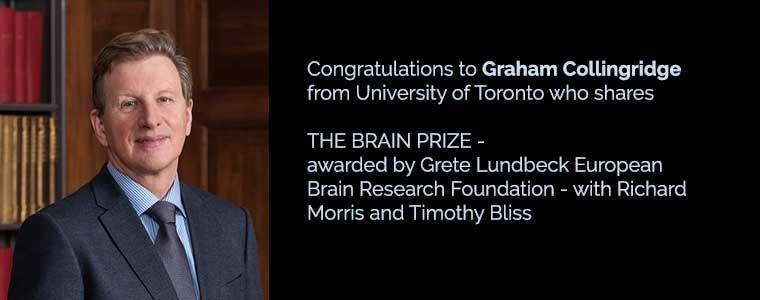 Graham Collingridge 2016 Brain Prize winner
