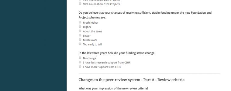 CAN CIHR survey