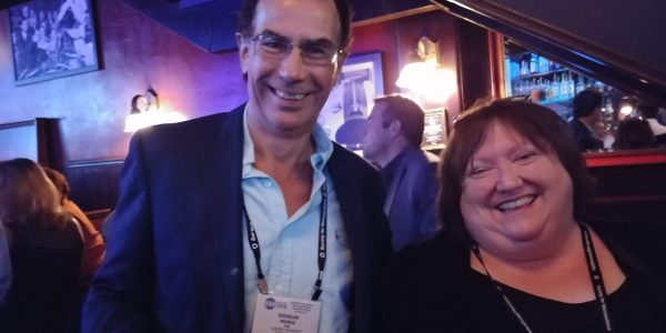 Doug Munoz and Valerie Verge at the CAN Social at SfN18