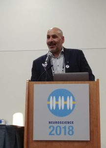 Jaideep Bains at the SfN advocacy reception