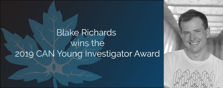 Blake Richards wins the 2019 CAN Young Investigator Award