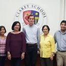 """Joshua Conway (SINAPSE co-founder and coordinator) and Francis Bambico (SINAPSE adviser) with some of the organizers of a forum on """"youth depression and suicide"""" held at Claret School of Quezon City, Philippines (February 2019)."""