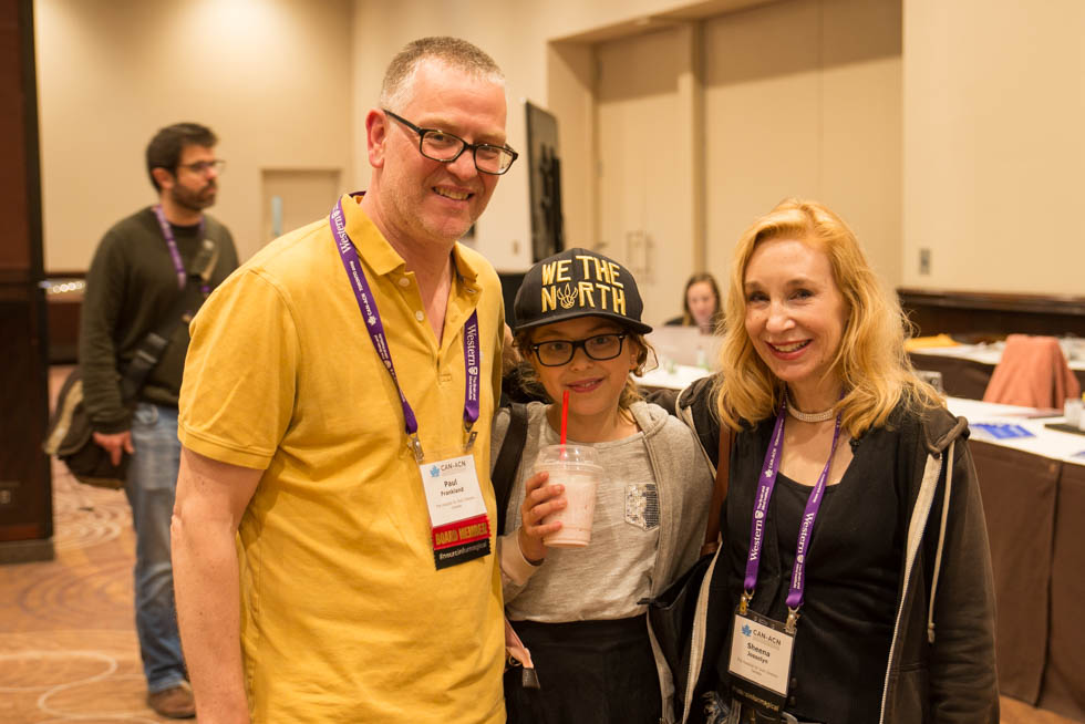 Paul Frankland, CAN2019 meeting chair, and family