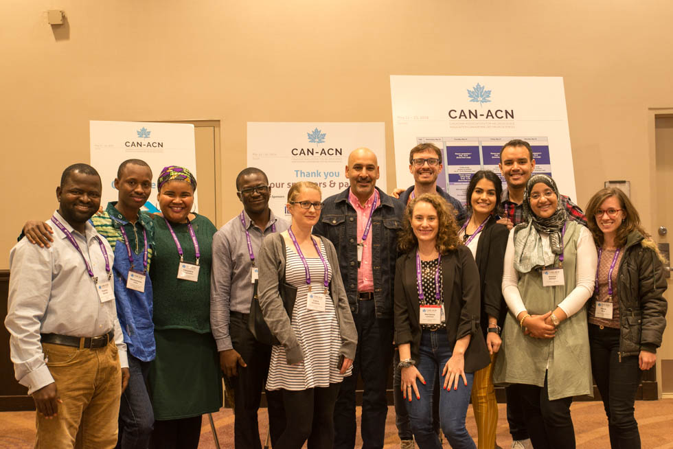 CAN President Jaideep Bains (centre) with the participants of the 13th Canadian IBRO-USCRC School of Neuroscience