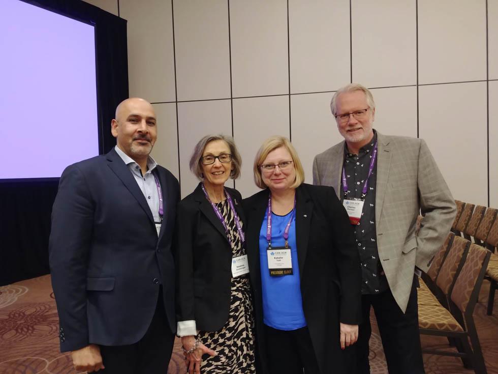 Jaideep Bains, Deanna Groetzinger (NHCC), Katalin Toth and Charles Bourque