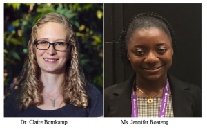 Dr. Claire Bomkamp and Ms. Jennifer Boateng